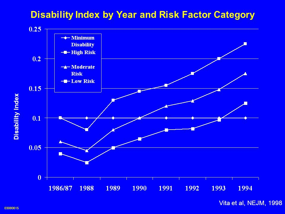 Disability Index by Year and Risk Factor Category