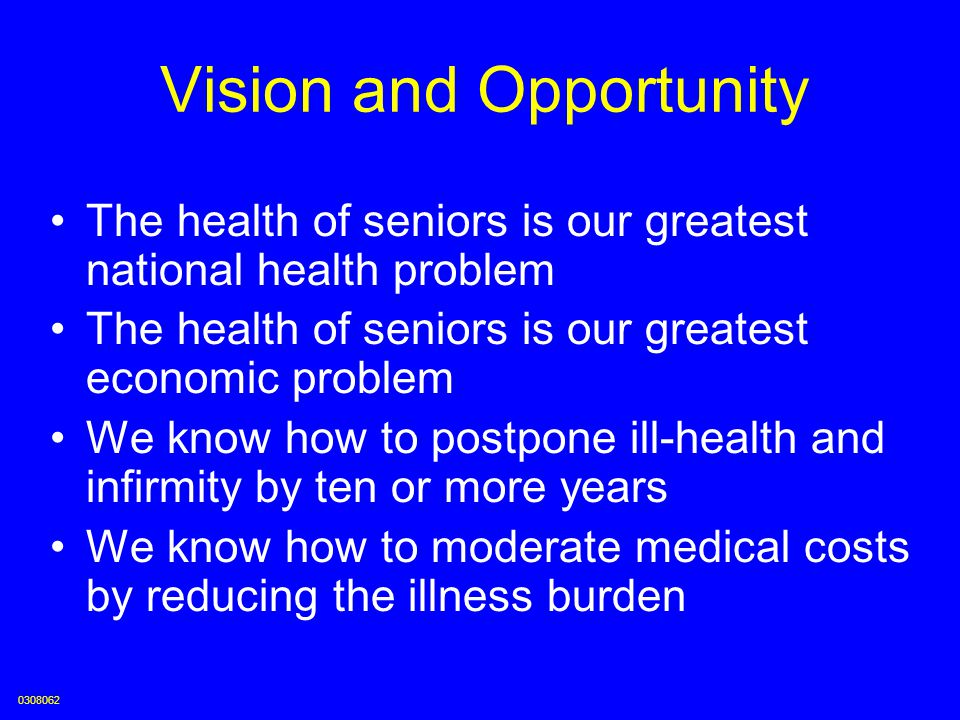Vision and Opportunity