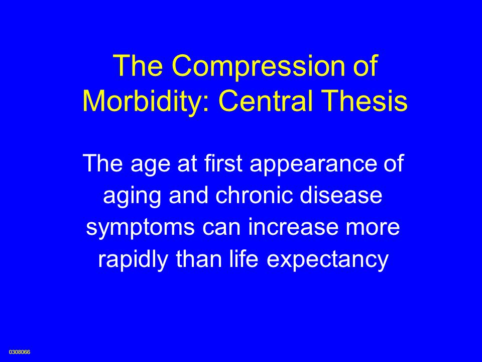 The Compression of Morbidity: Central Thesis