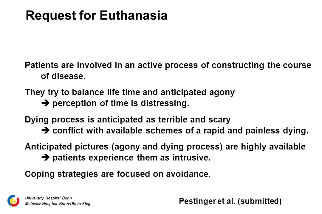 Request for Euthanasia