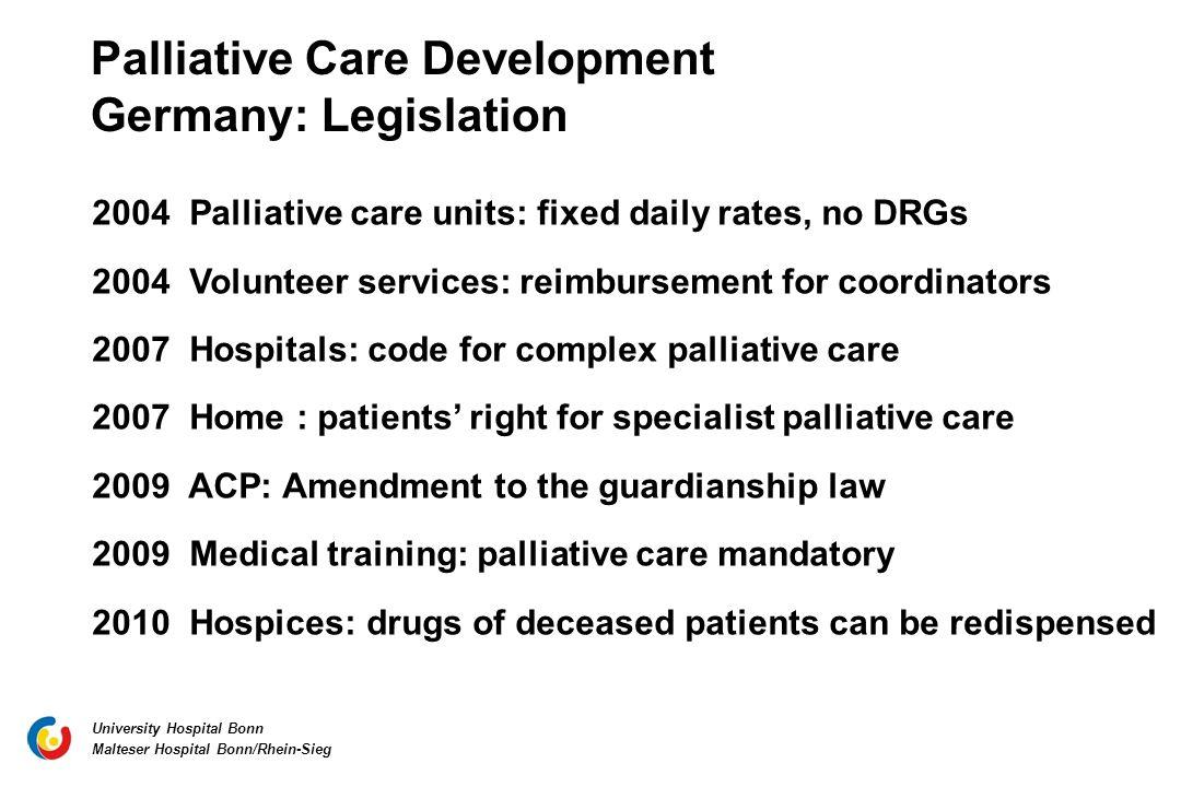 Palliative Care Development Germany: Legislation