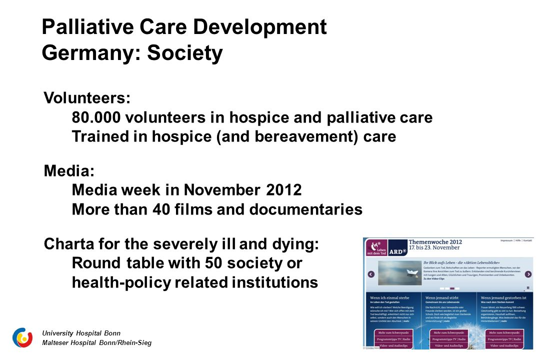 Palliative Care Development Germany: Society