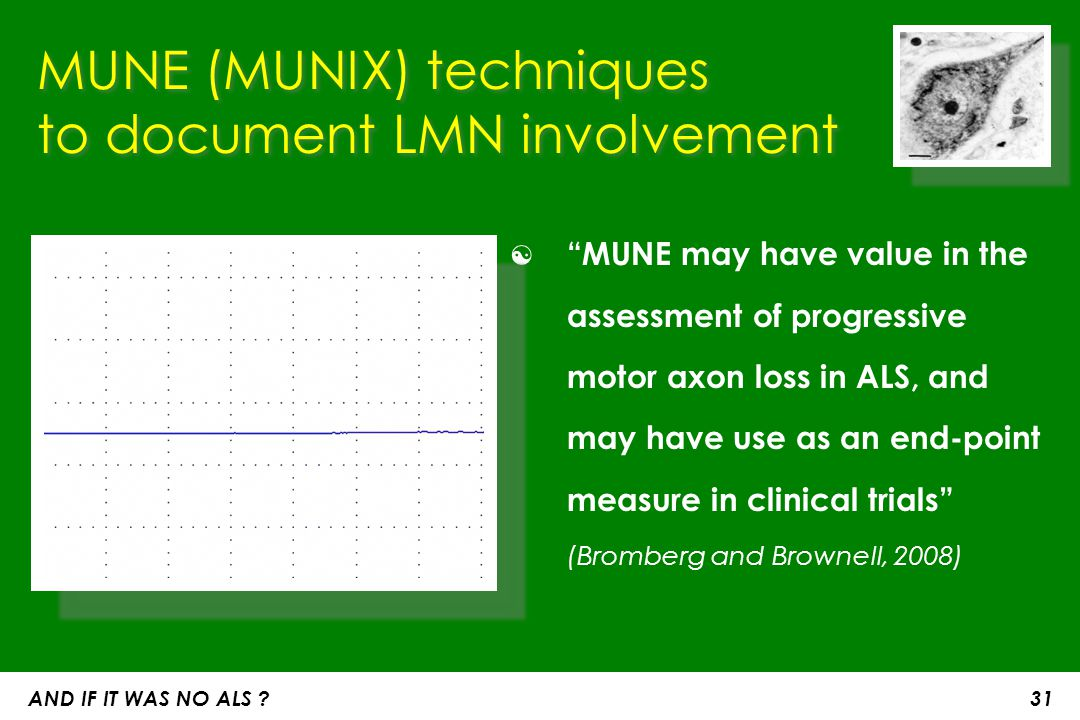 MUNE (MUNIX) techniques to document LMN involvement