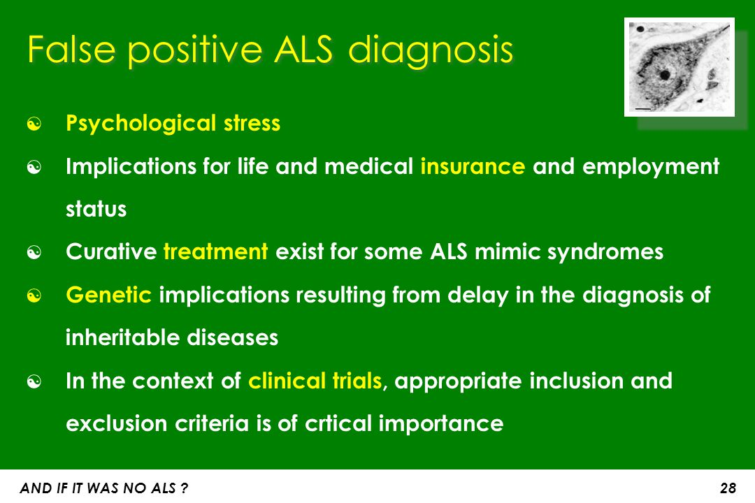 False positive ALS diagnosis