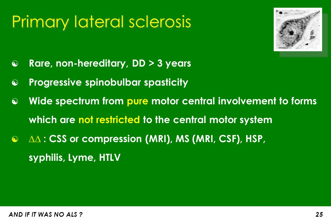 Primary lateral sclerosis