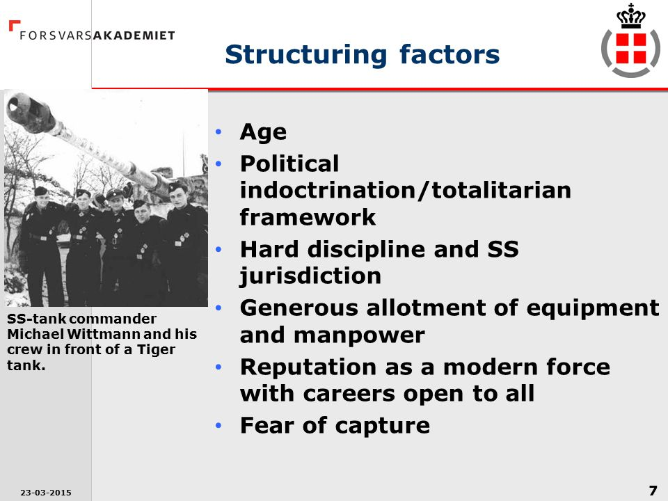 Structuring factors Age