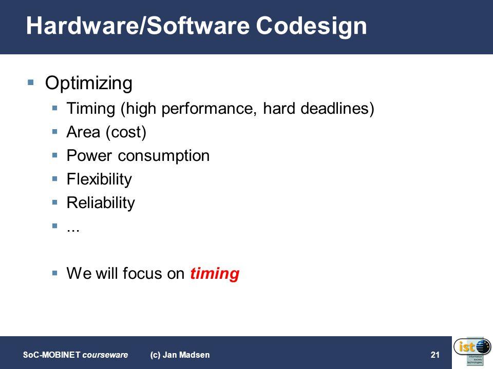 Hardware/Software Codesign