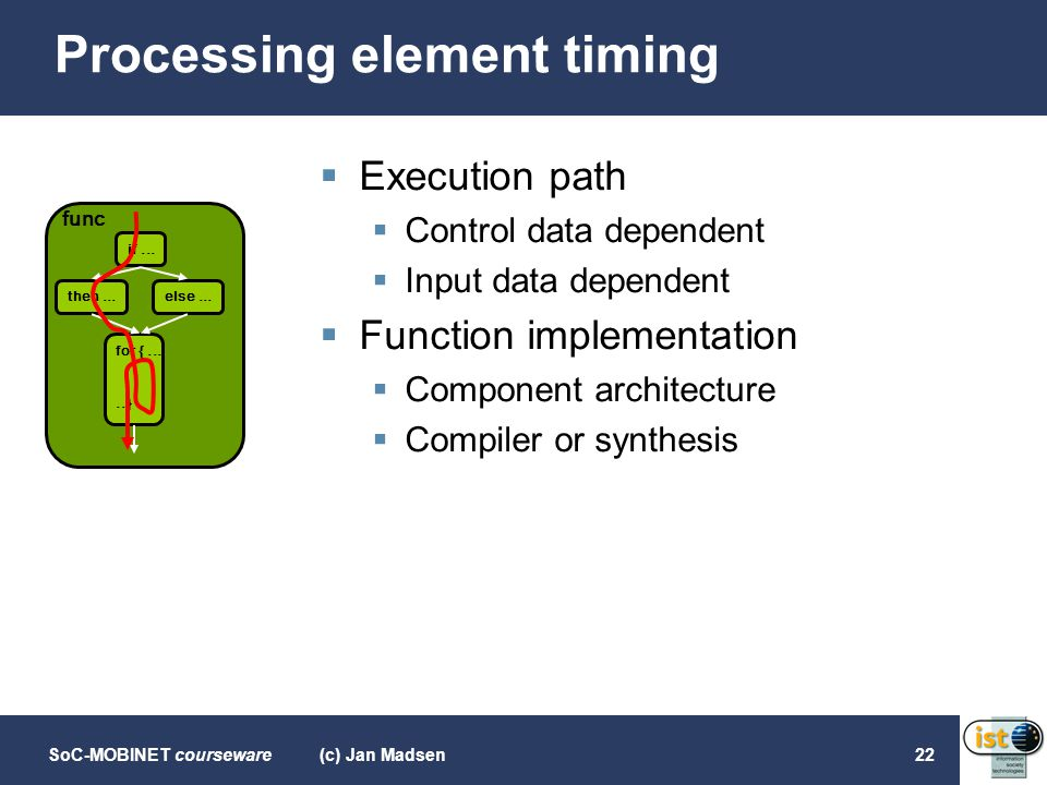 Processing element timing