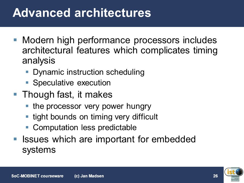 Advanced architectures