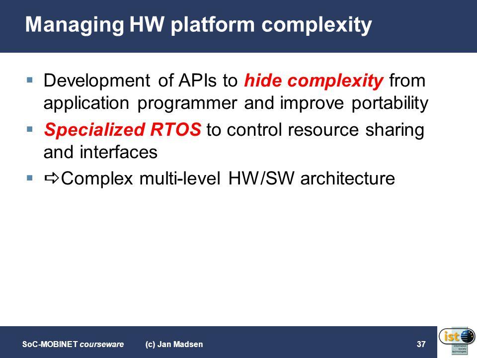 Managing HW platform complexity