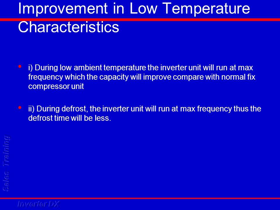Improvement in Low Temperature Characteristics