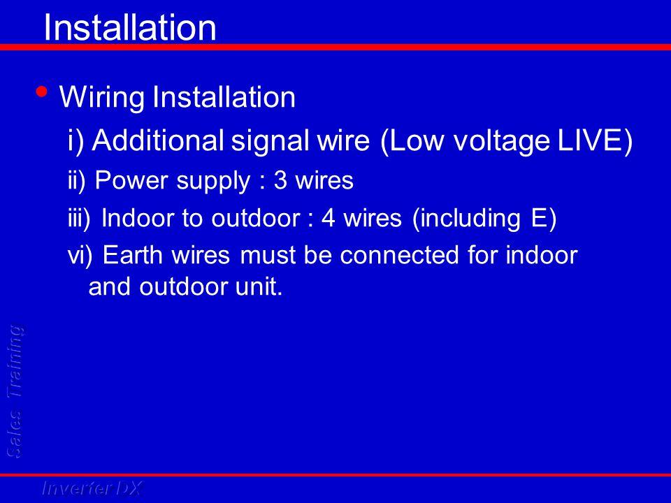 Installation Wiring Installation