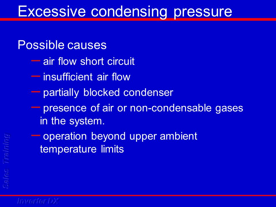Excessive condensing pressure