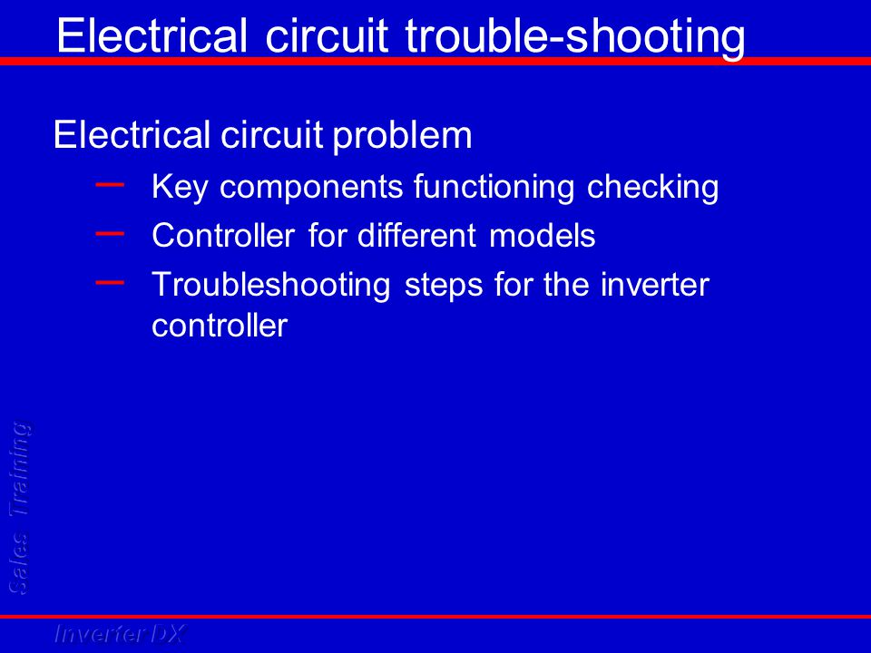 Electrical circuit trouble-shooting