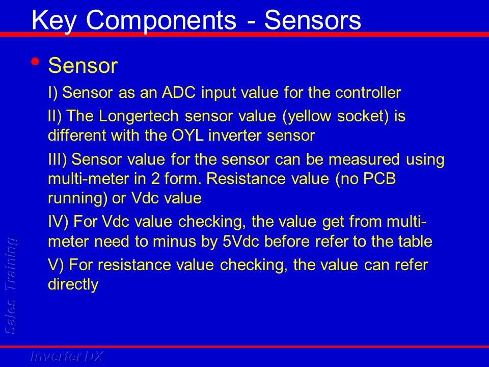 Key Components - Sensors
