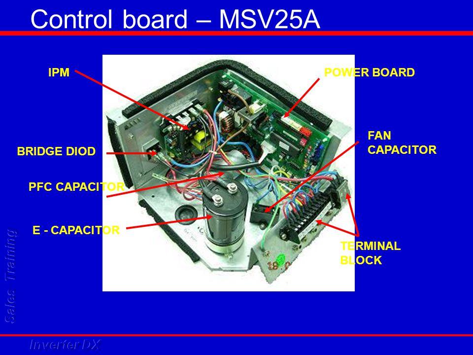 Control board – MSV25A IPM POWER BOARD FAN CAPACITOR BRIDGE DIOD