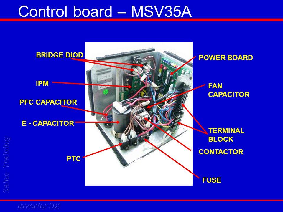 Control board – MSV35A BRIDGE DIOD POWER BOARD IPM FAN CAPACITOR
