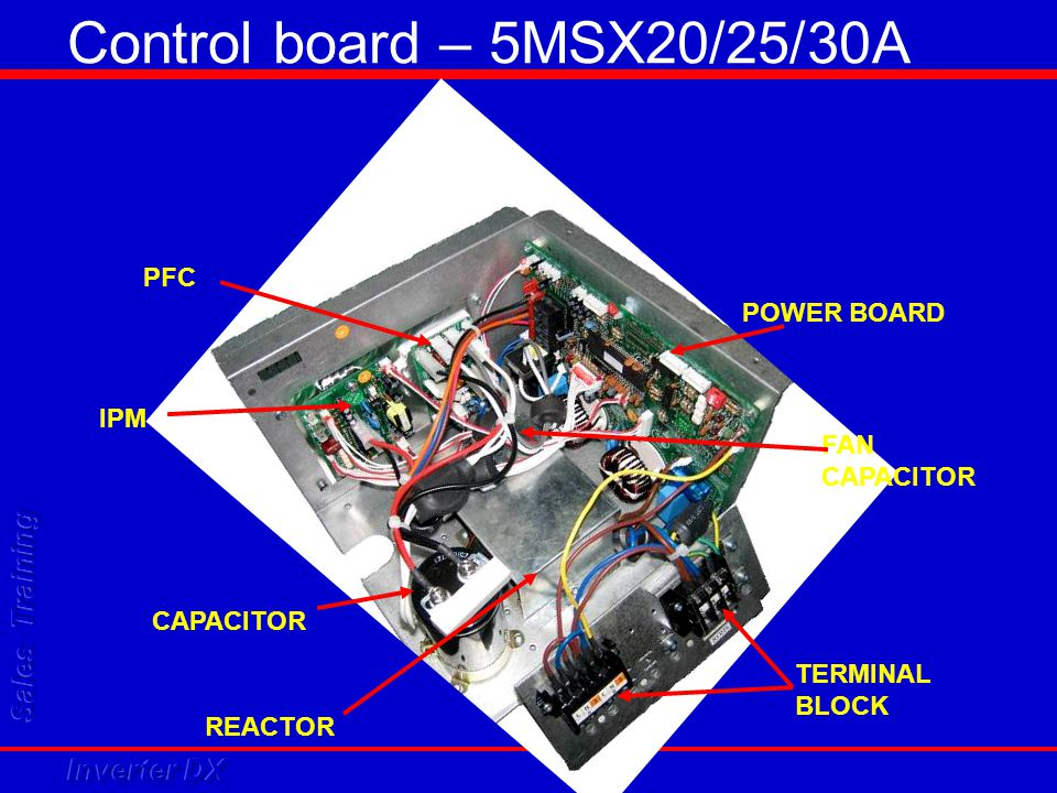 Control board – 5MSX20/25/30A PFC POWER BOARD IPM FAN CAPACITOR