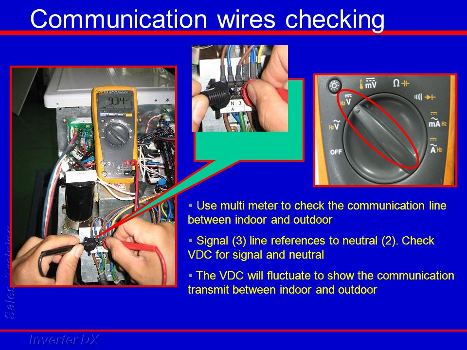Communication wires checking