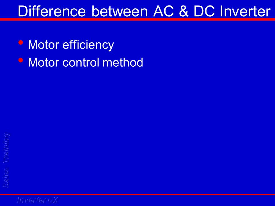 Difference between AC & DC Inverter