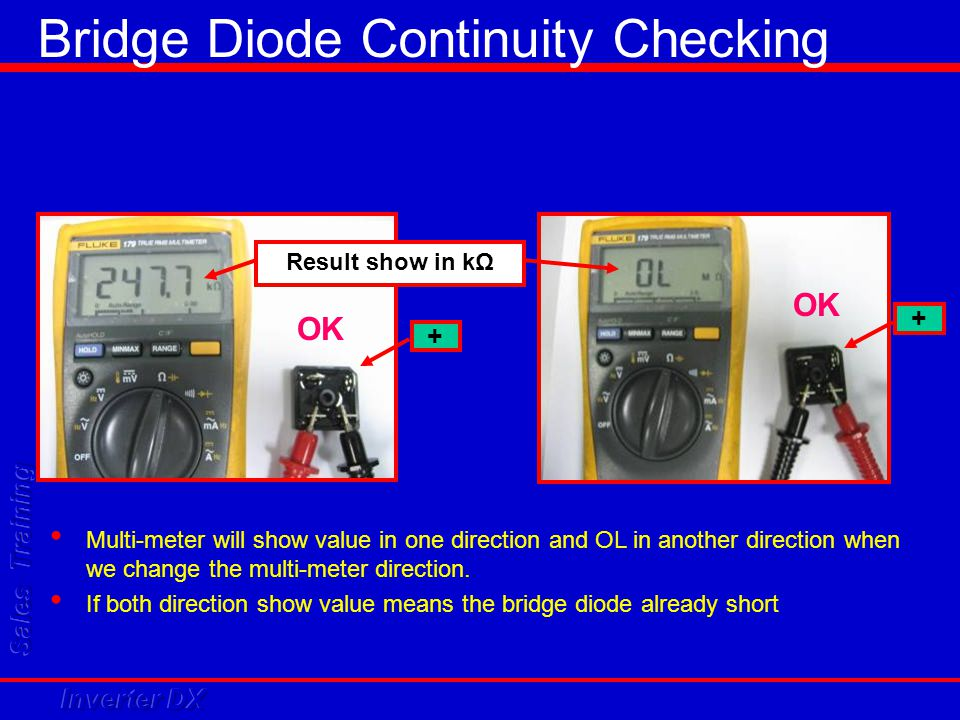 Bridge Diode Continuity Checking