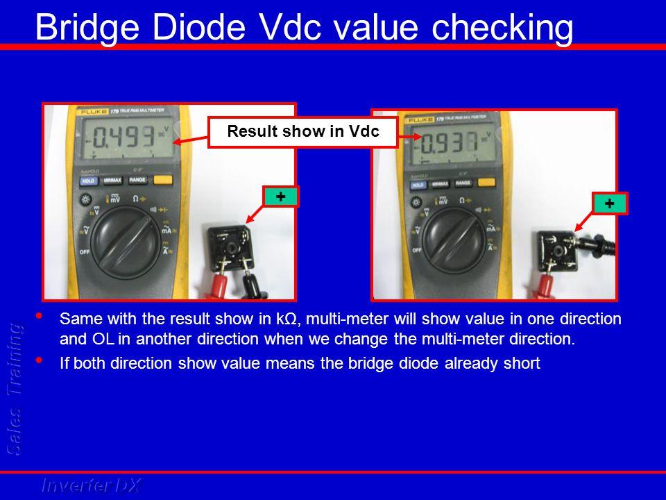 Bridge Diode Vdc value checking