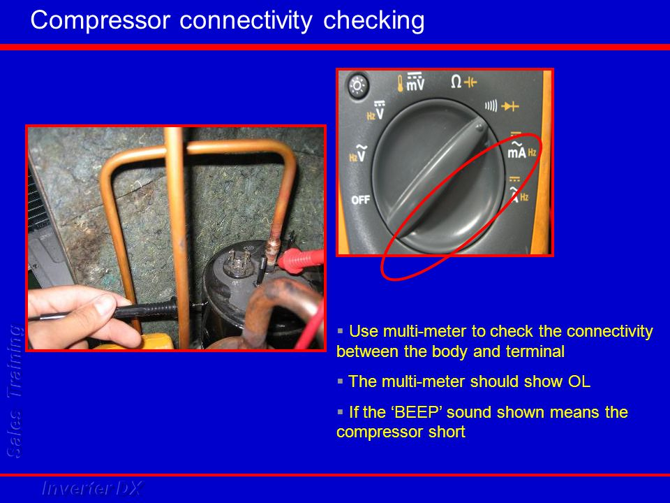 Compressor connectivity checking