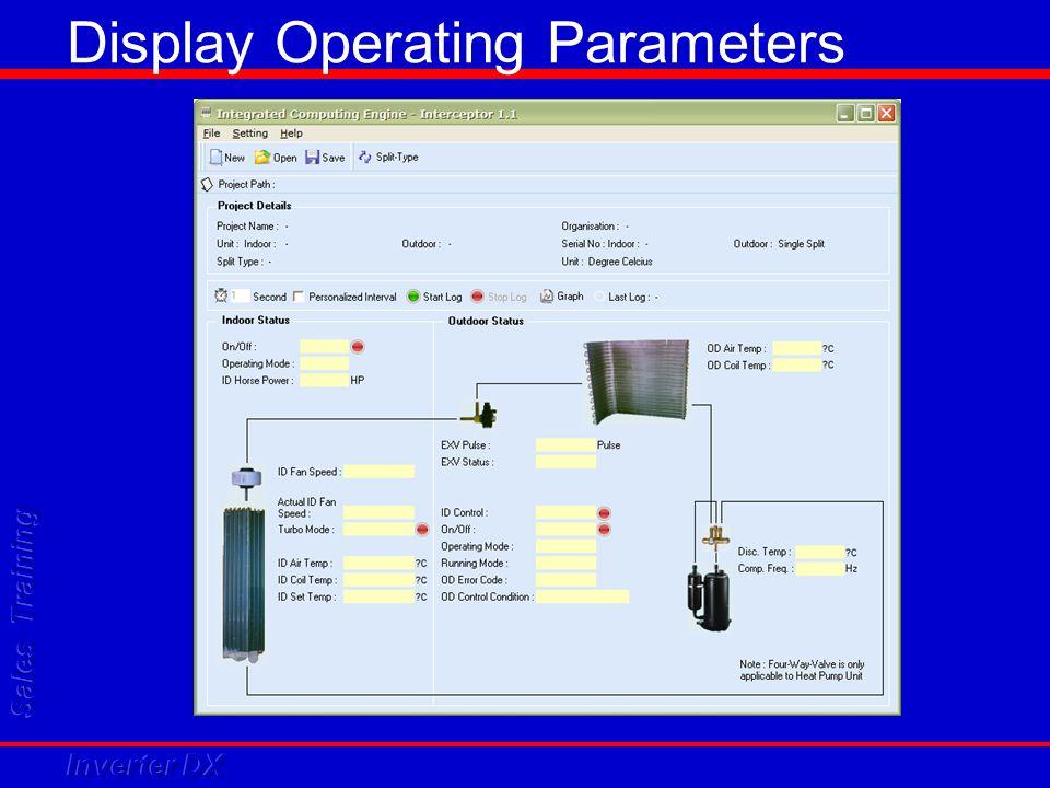 Display Operating Parameters