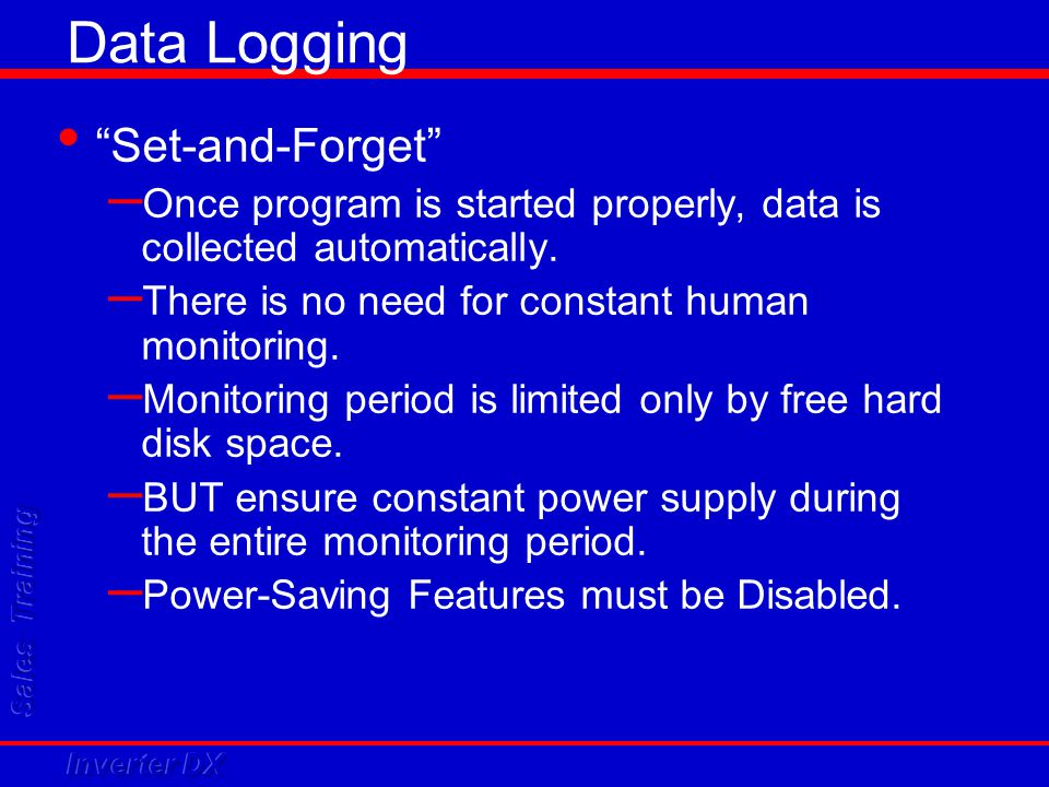 Data Logging Set-and-Forget