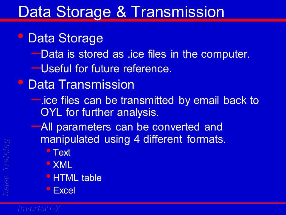Data Storage & Transmission