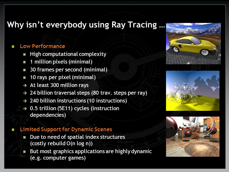 Why isn't everybody using Ray Tracing …