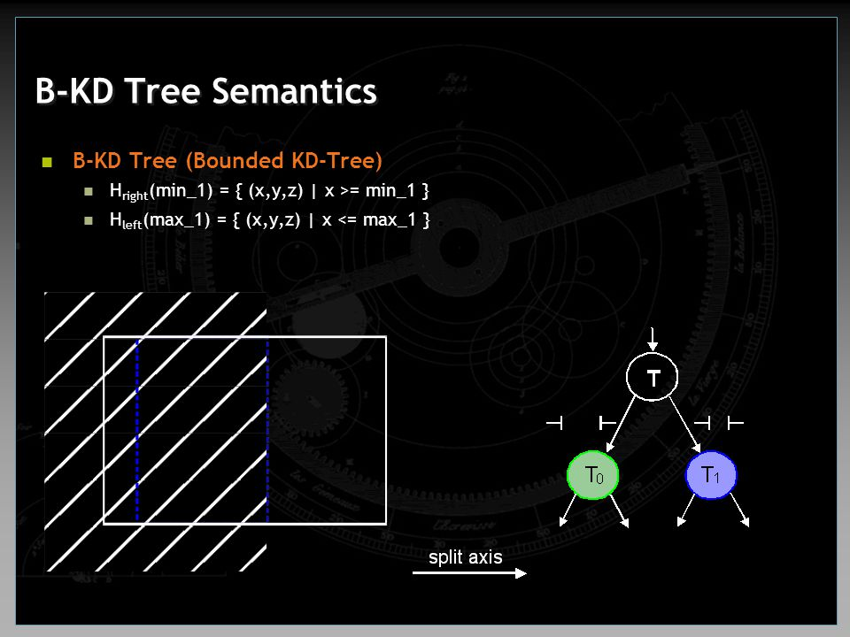 B-KD Tree Semantics B-KD Tree (Bounded KD-Tree)