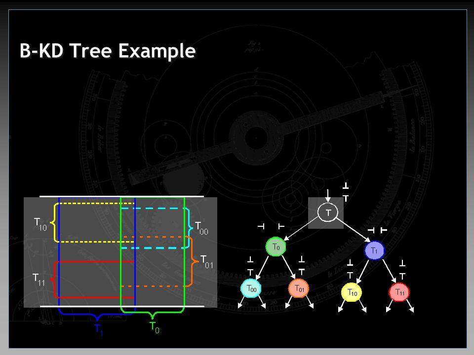 B-KD Tree Example