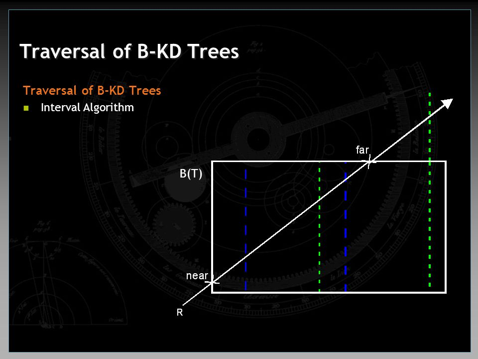 Traversal of B-KD Trees