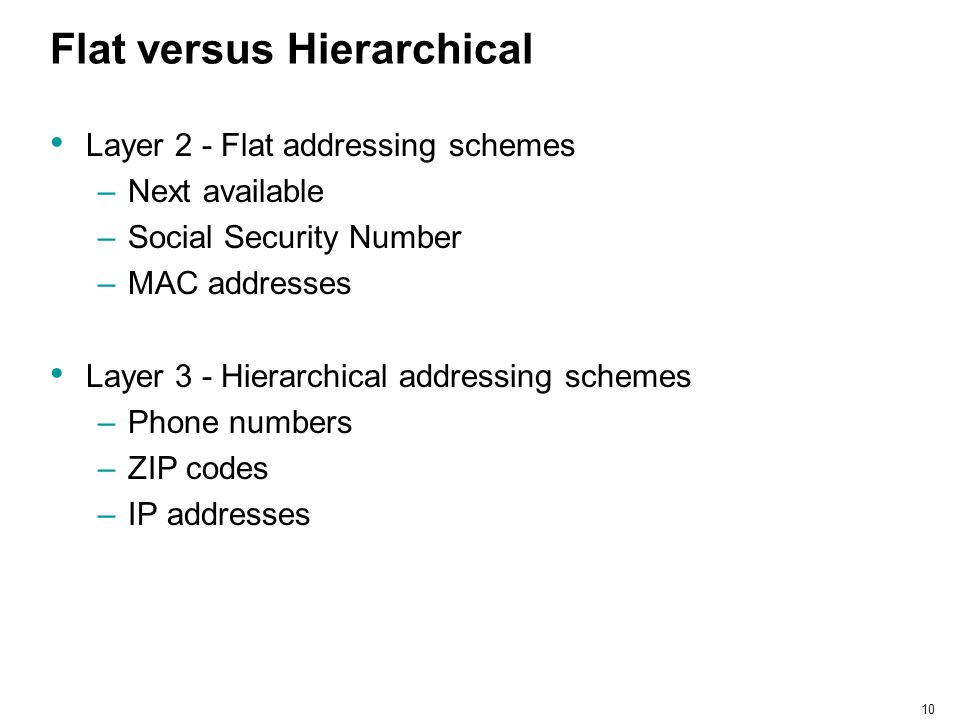 Flat versus Hierarchical