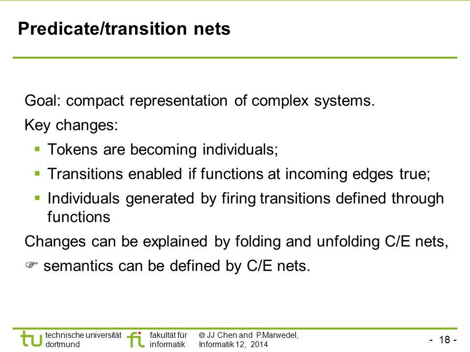 Predicate/transition nets