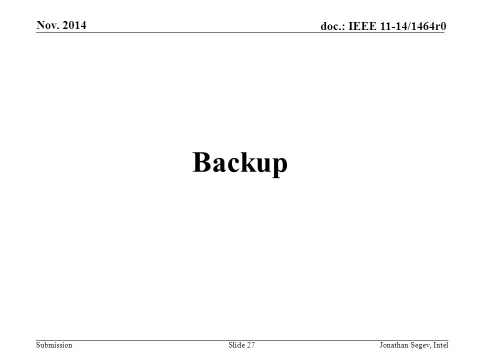 Nov. 2014 Backup Jonathan Segev, Intel