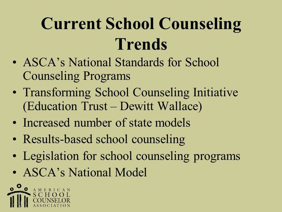 Current School Counseling Trends
