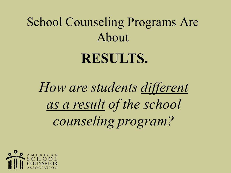 School Counseling Programs Are About