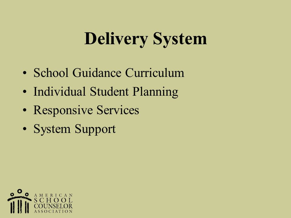 Delivery System School Guidance Curriculum Individual Student Planning