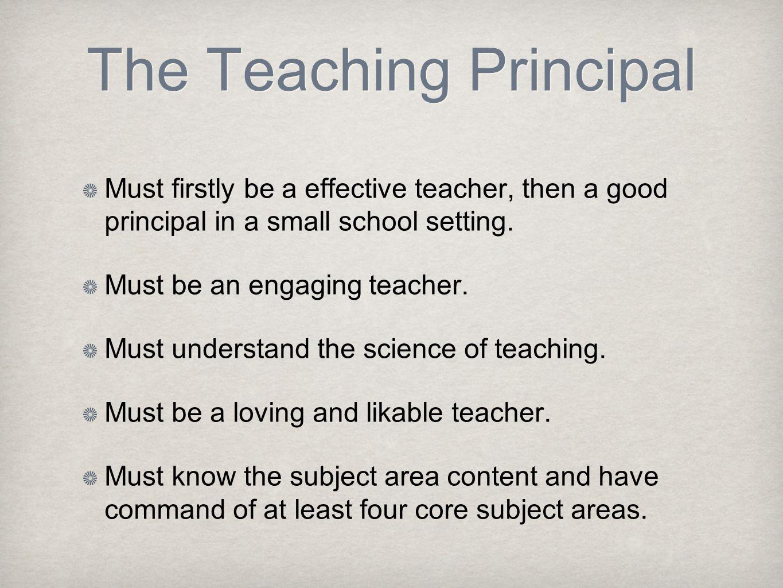 The Teaching Principal