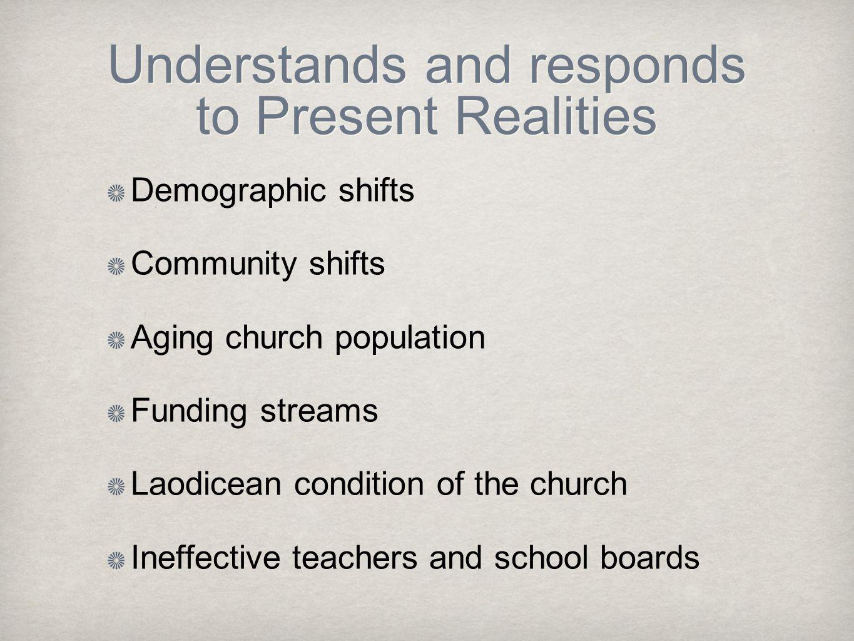 Understands and responds to Present Realities