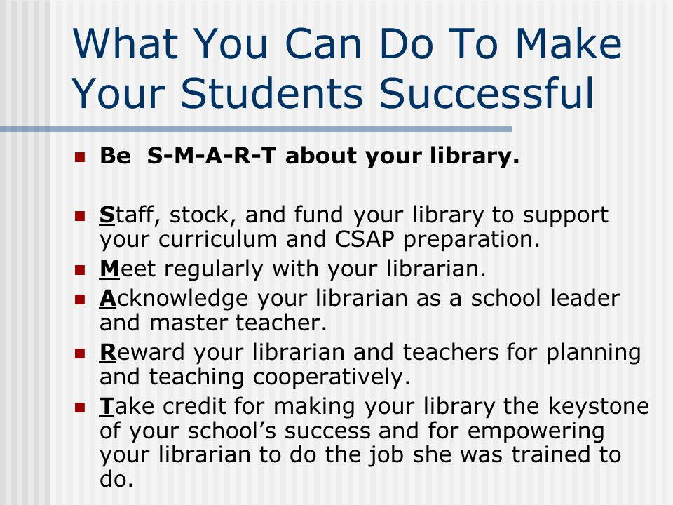 What You Can Do To Make Your Students Successful
