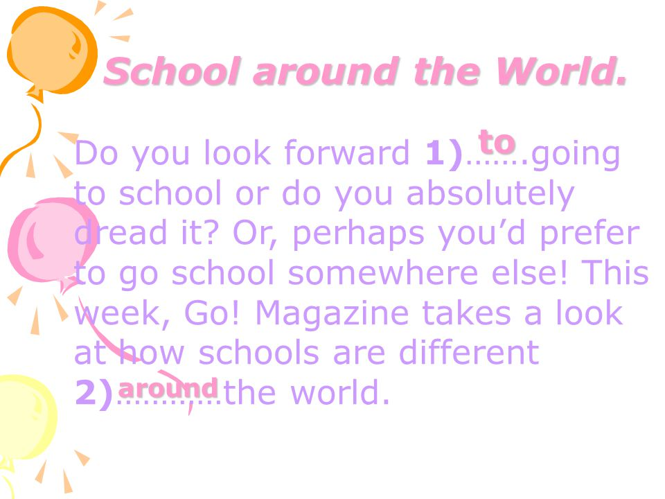 School around the World.
