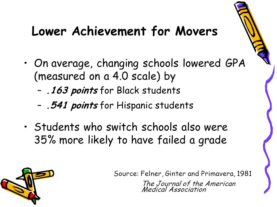 Lower Achievement for Movers
