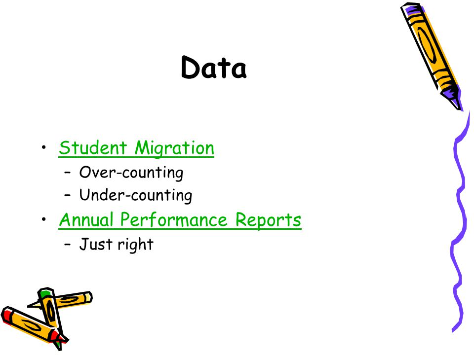 Data Student Migration Annual Performance Reports Over-counting