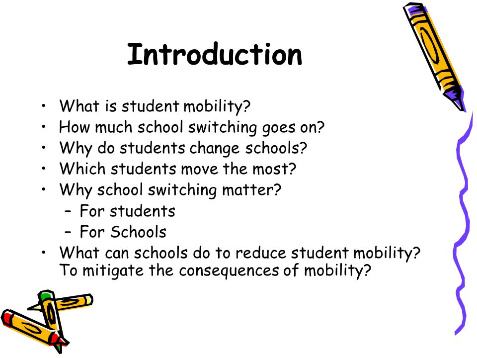 Introduction What is student mobility