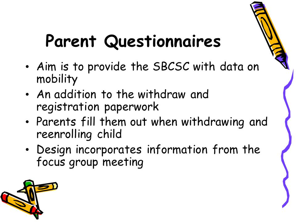 Parent Questionnaires