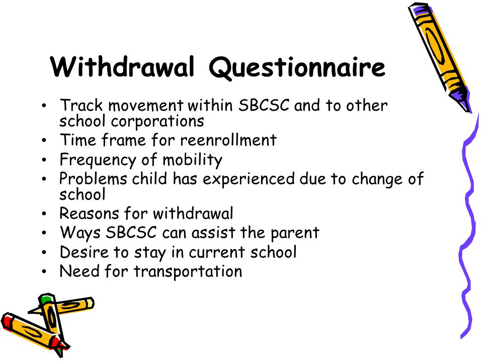 Withdrawal Questionnaire