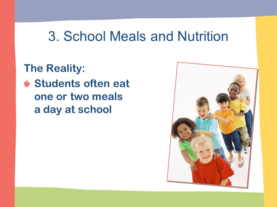 3. School Meals and Nutrition